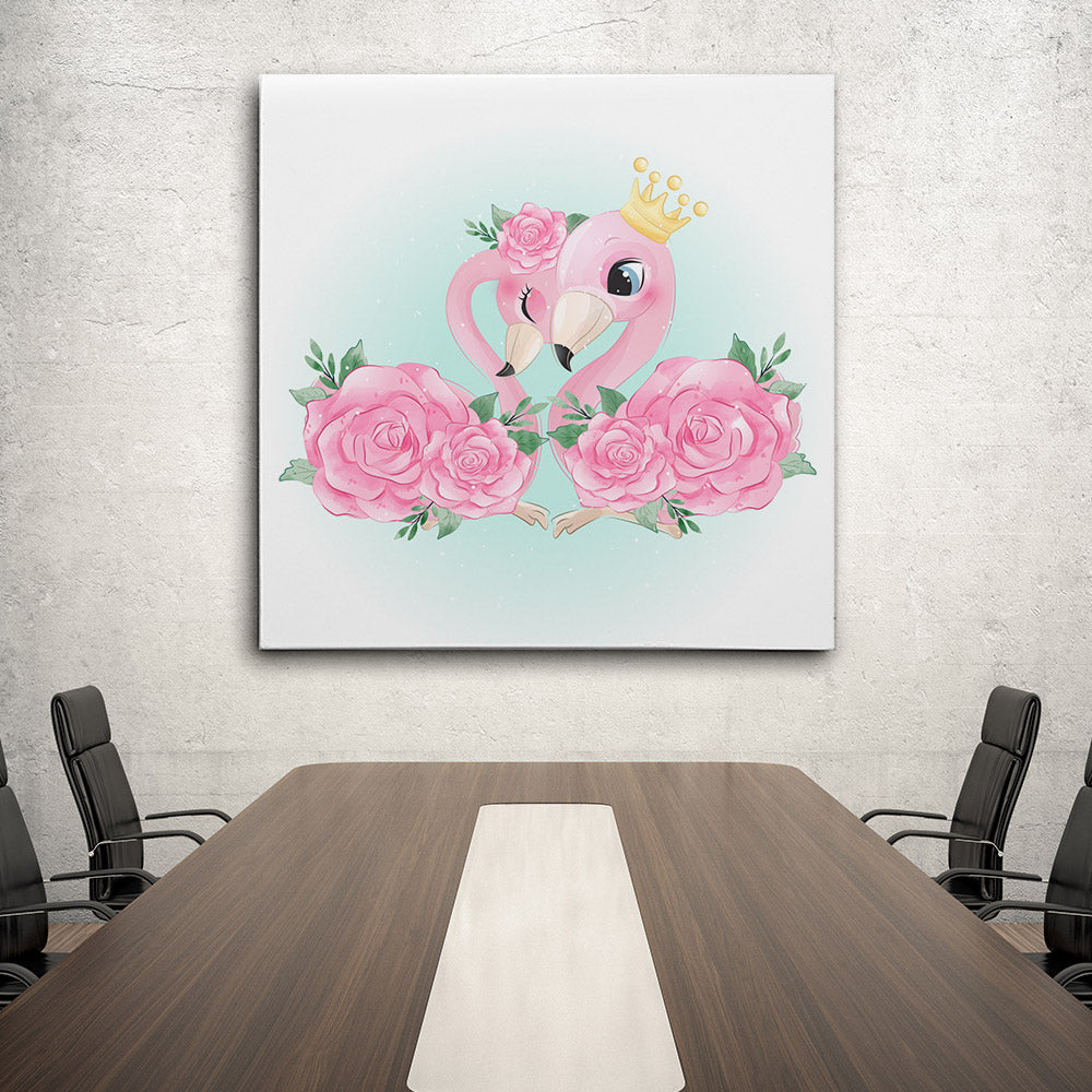 Flamingo Canvas Wall Art for your Home or Office. Motivational, inspirational and modern canvas wall art for your Home or Office.