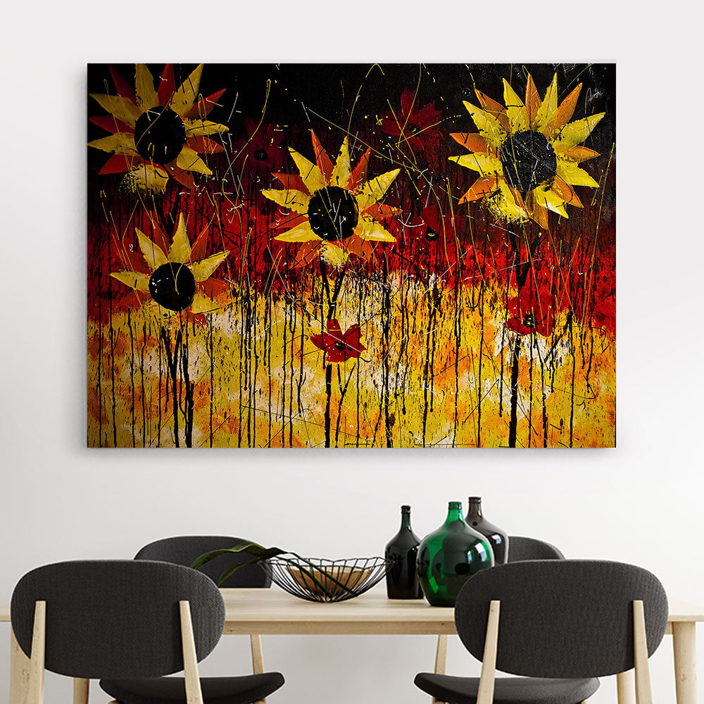Flower Art Canvas Wall Art