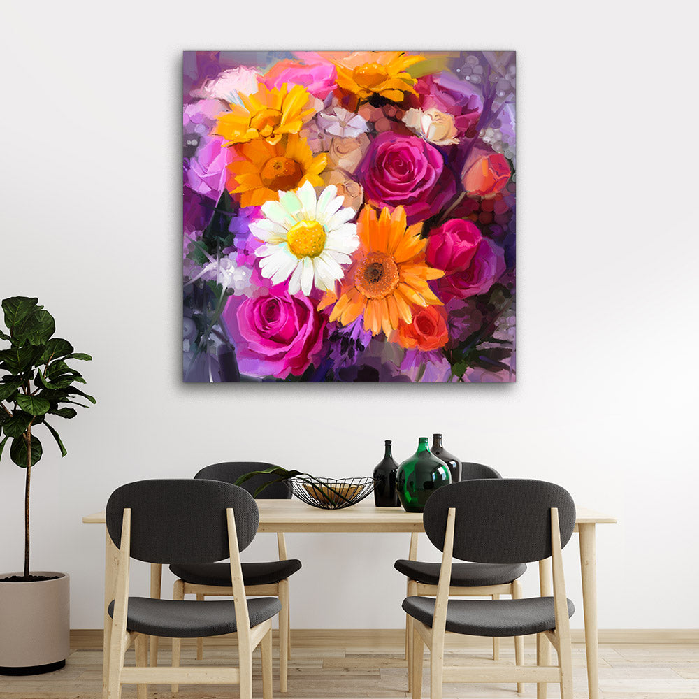 Flowers Wall Art Painting Canvas Wall Art