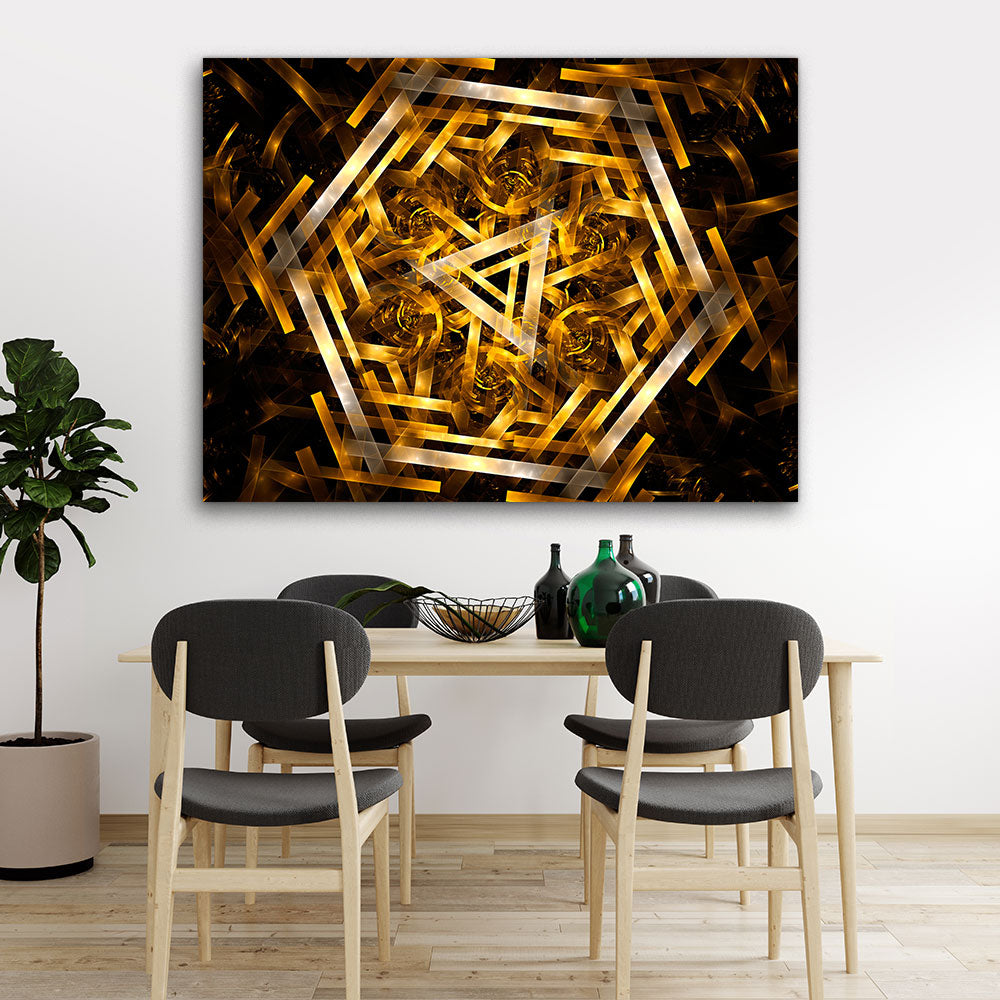 Fractal Abstract Canvas Wall Art v3