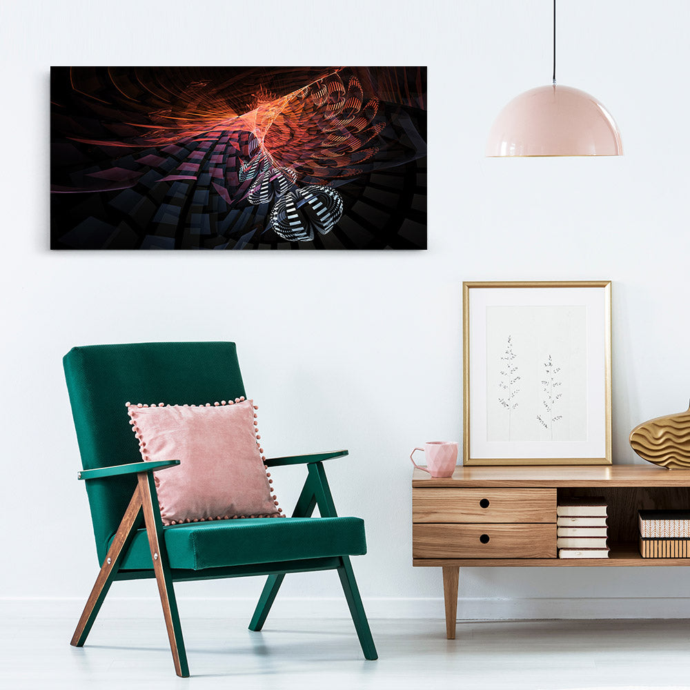 Colorful Fractal Abstract Canvas Wall Art v3