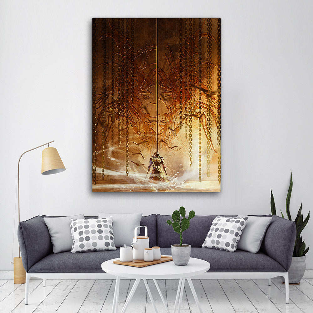 Gatekeeper Knight Abstract Canvas Wall Art