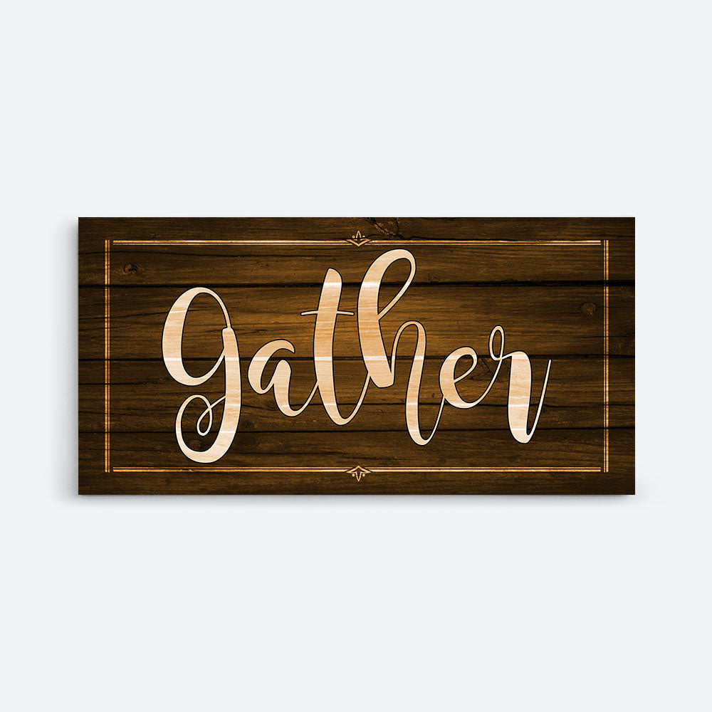 Gather Canvas Wall Art