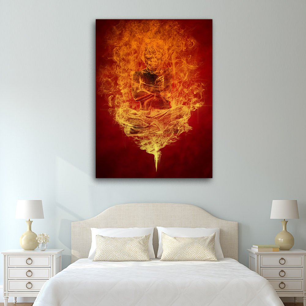 Genie Magical Smoke Abstract Canvas Wall Art