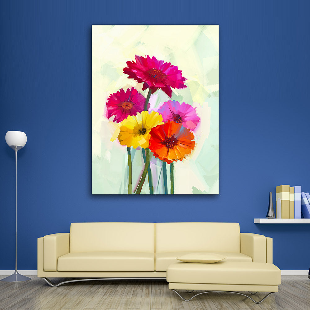 Gerbera Flower Canvas Wall Art