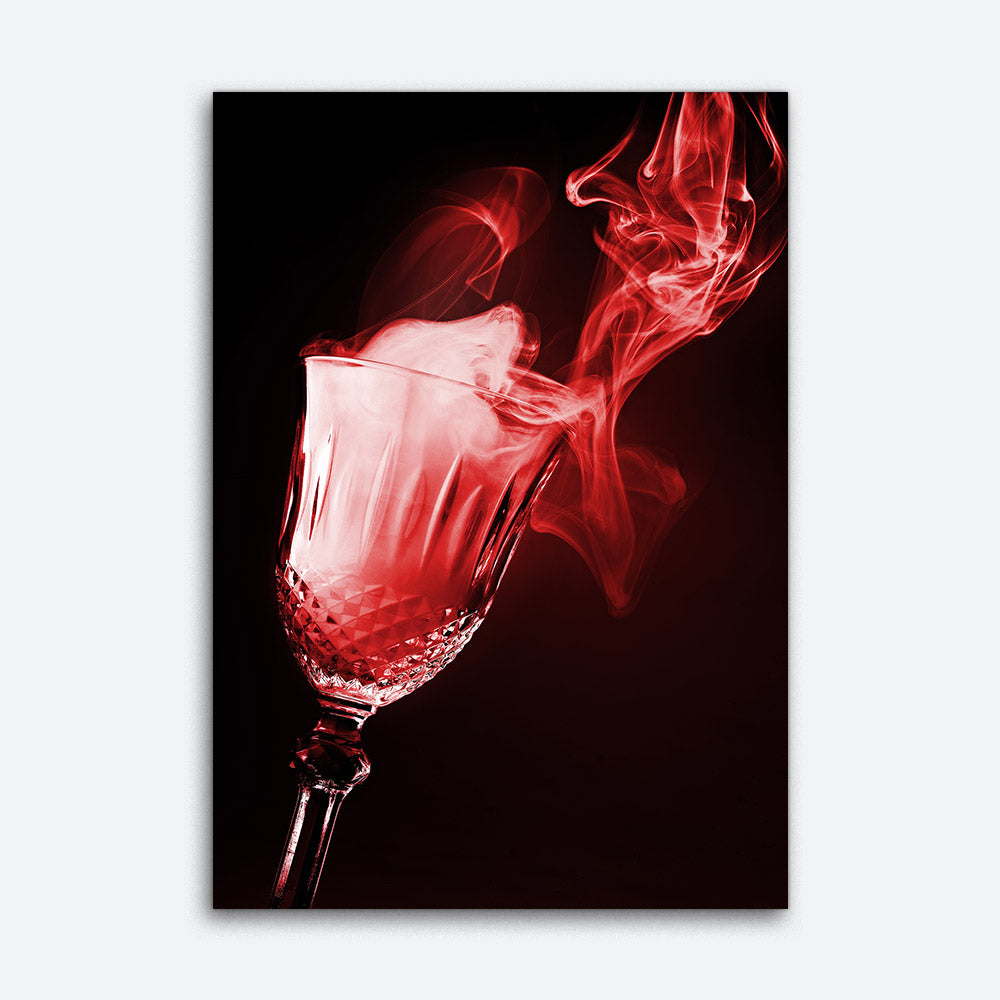 Glass of Magical Smoke Abstract Canvas Wall Art