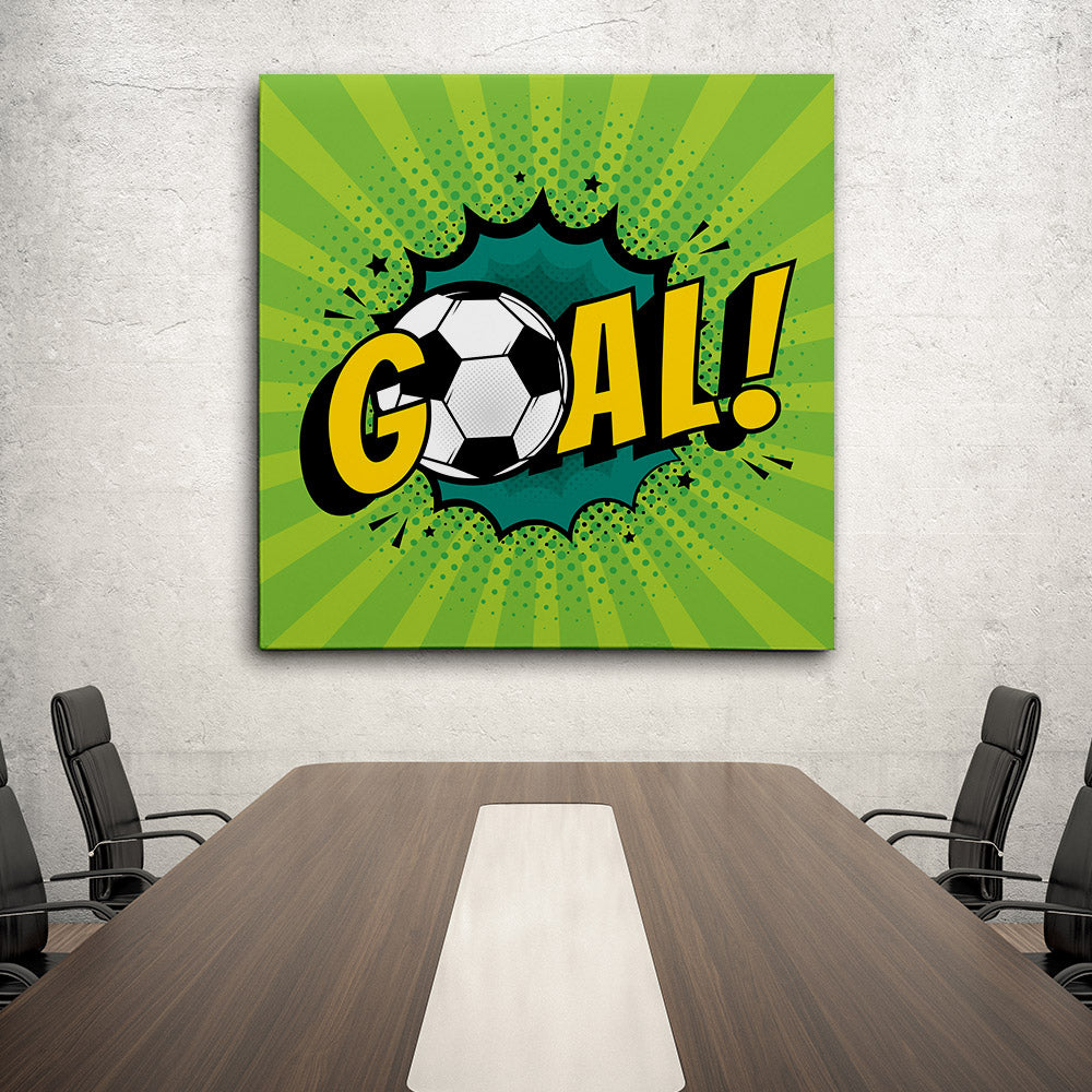 Goal Football Canvas Wall Art