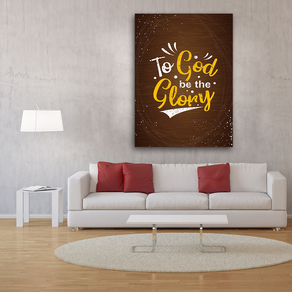 God be Glory Quote Canvas Wall Art