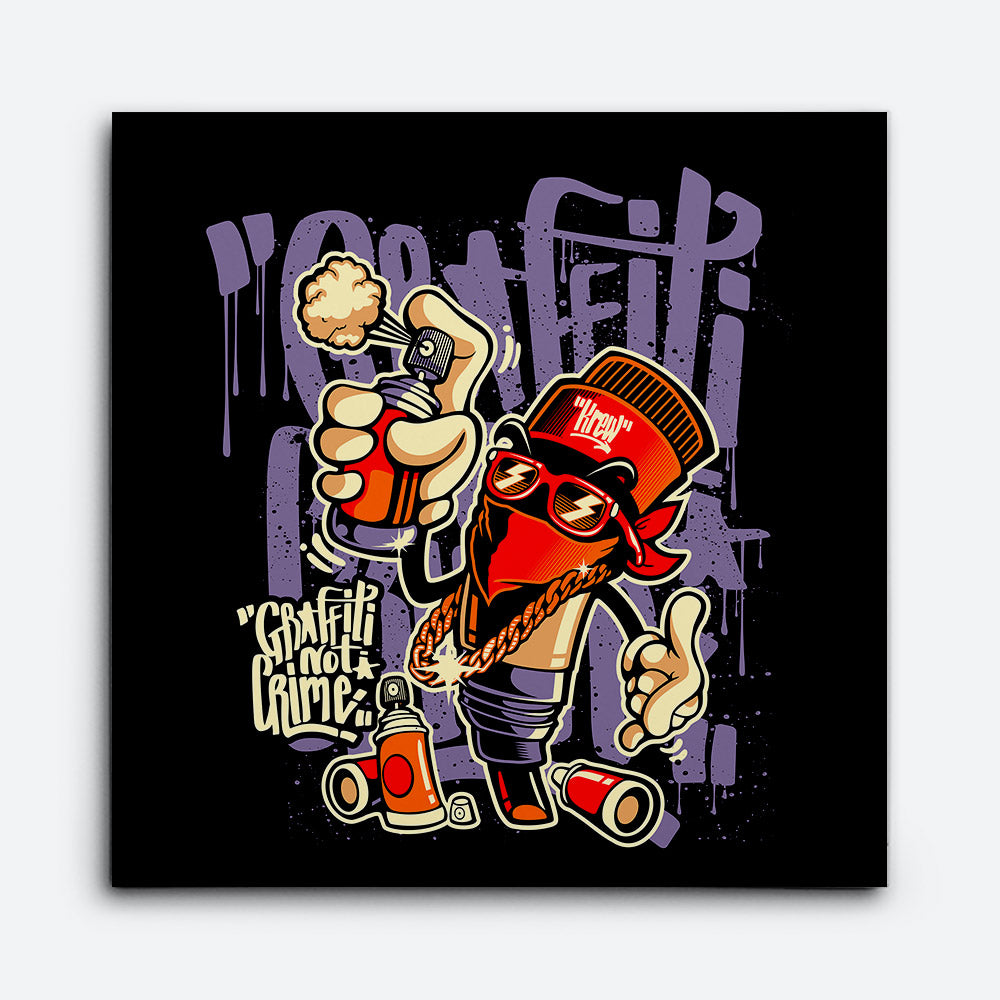 Graffity Crime not a Crime Canvas Wall Art