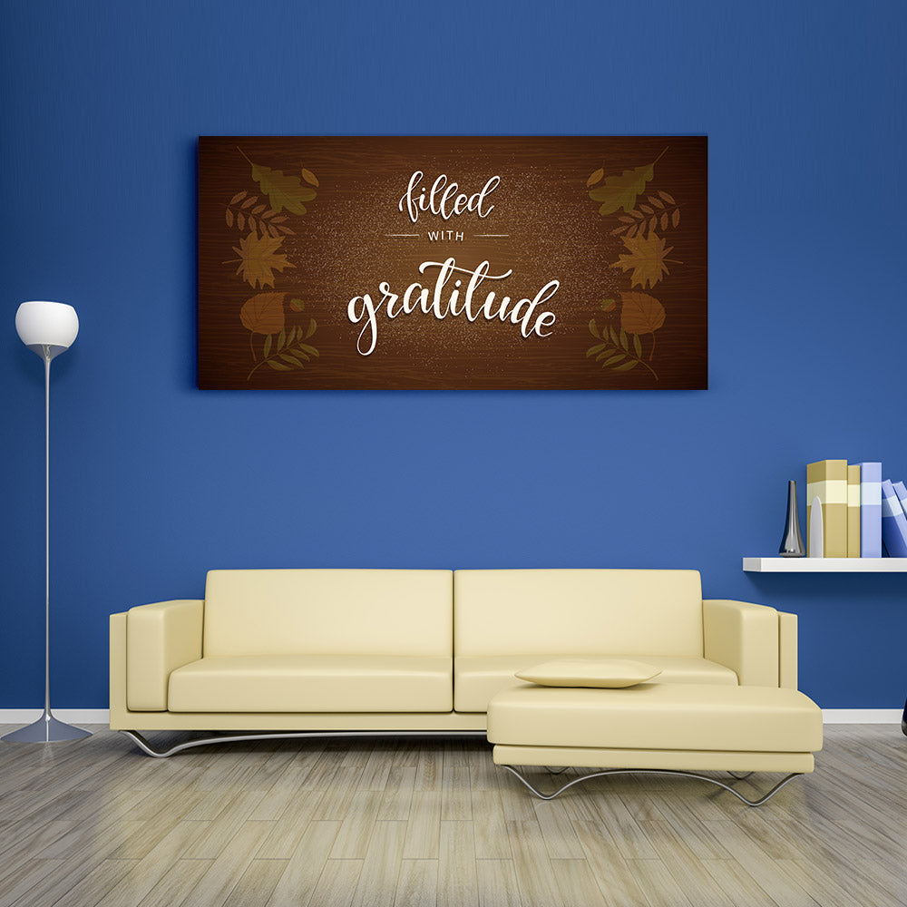 Gratitude Quote Canvas Wall Art V3