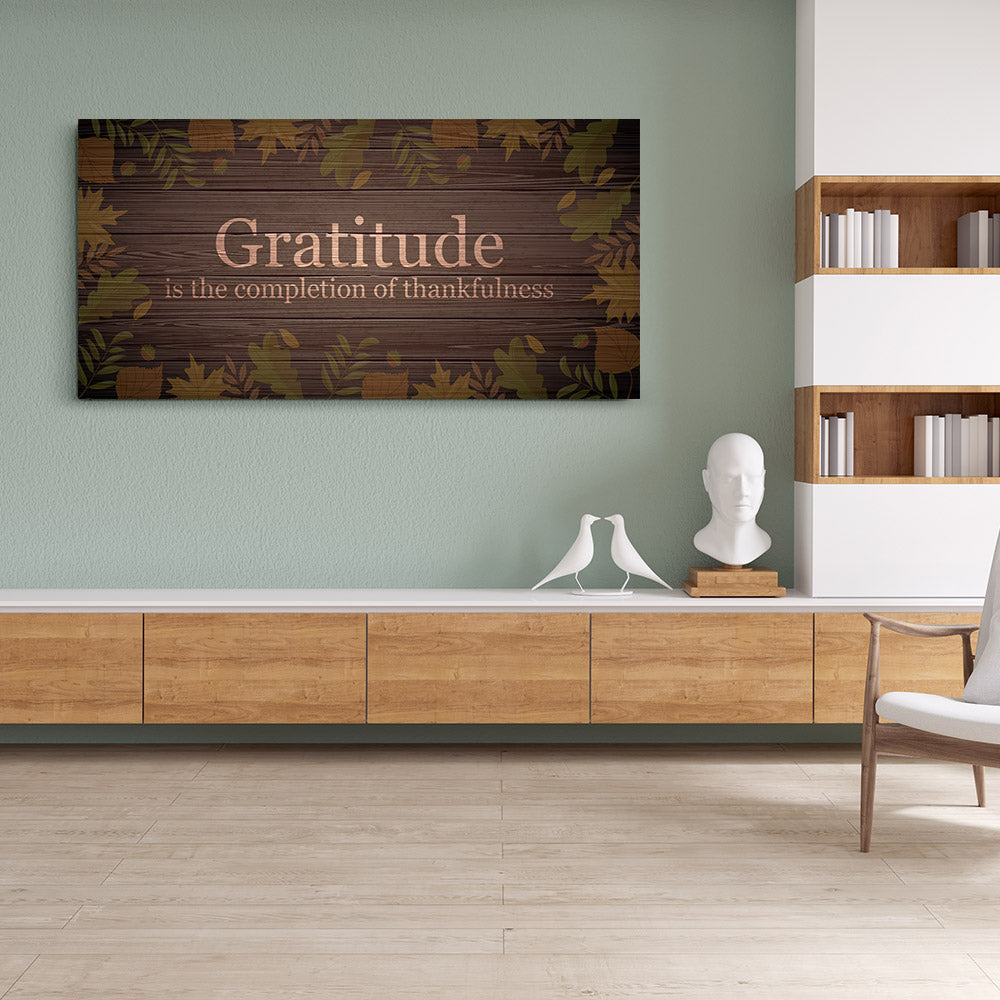 Gratitude Quote Canvas Wall Art