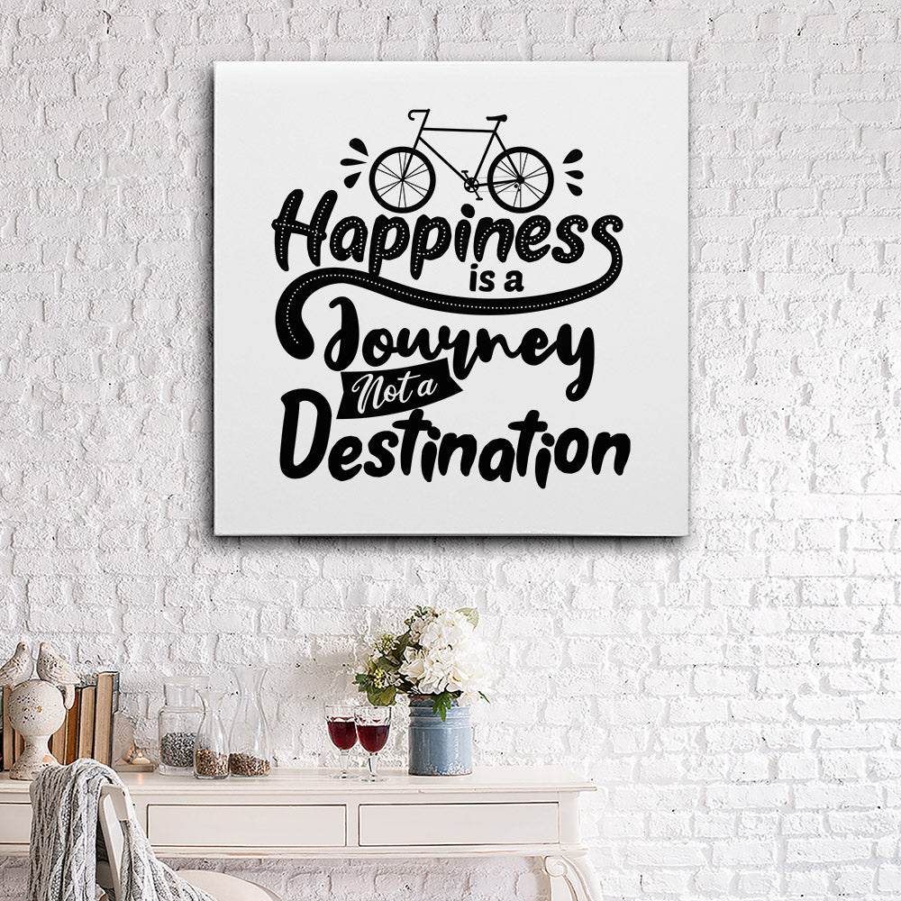Happiness Is Journey Canvas Wall Art for your Home or Office. Motivational, inspirational and modern canvas wall art for your Home or Office.