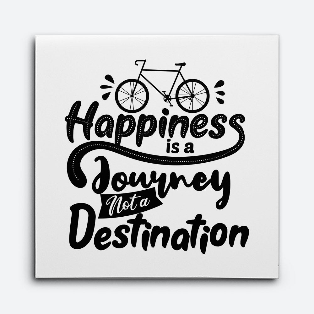 Happiness Is Journey Canvas Wall Art