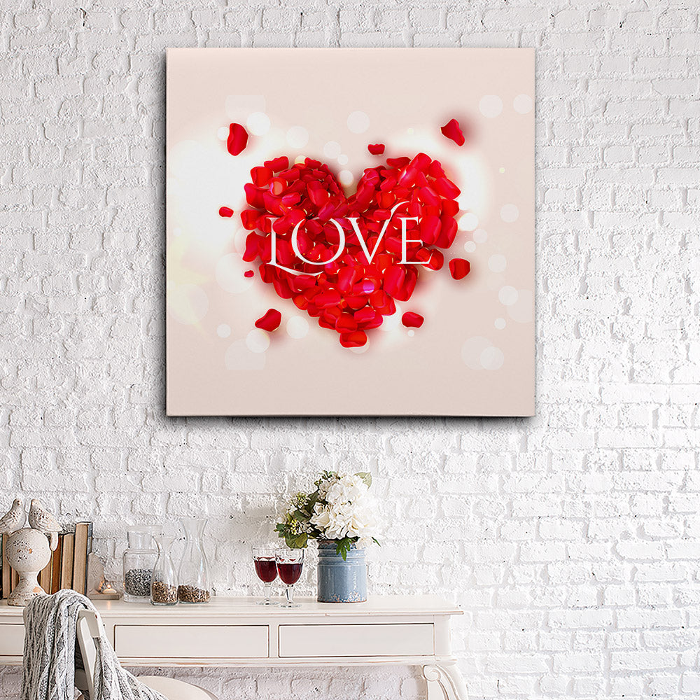 Heart Shape Canvas Wall Art