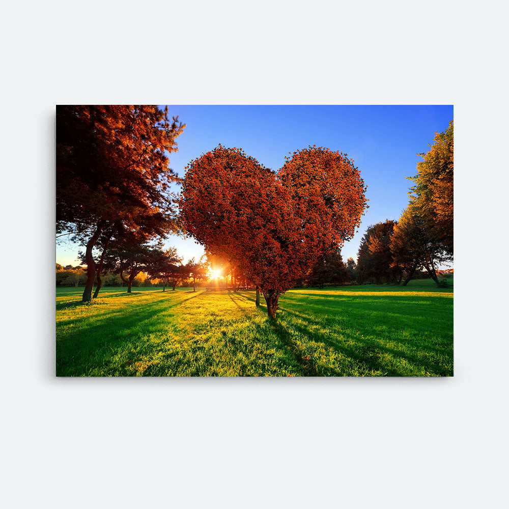 Heart Shape Tree Nature Canvas Wall Art