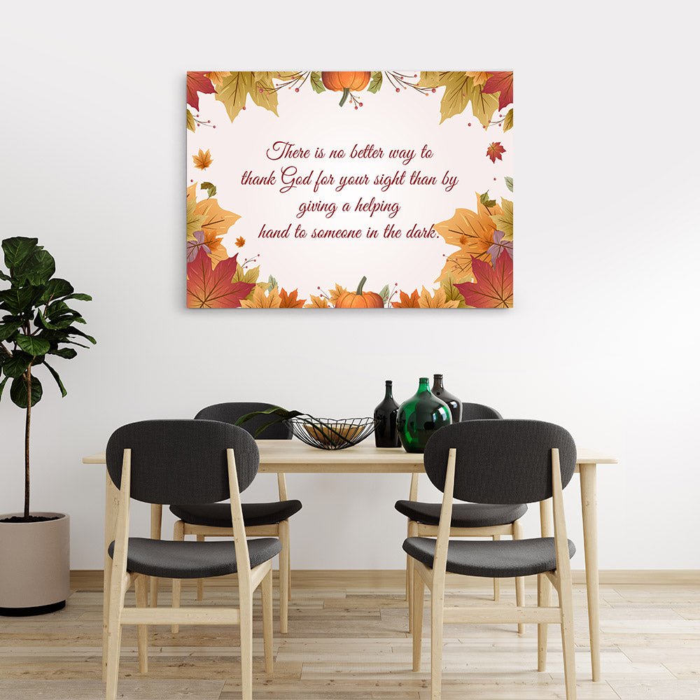 Helping Hand Quote Canvas Wall Art
