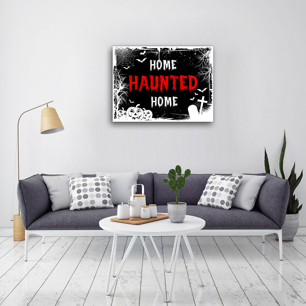 Home Haunted Canvas Wall Art
