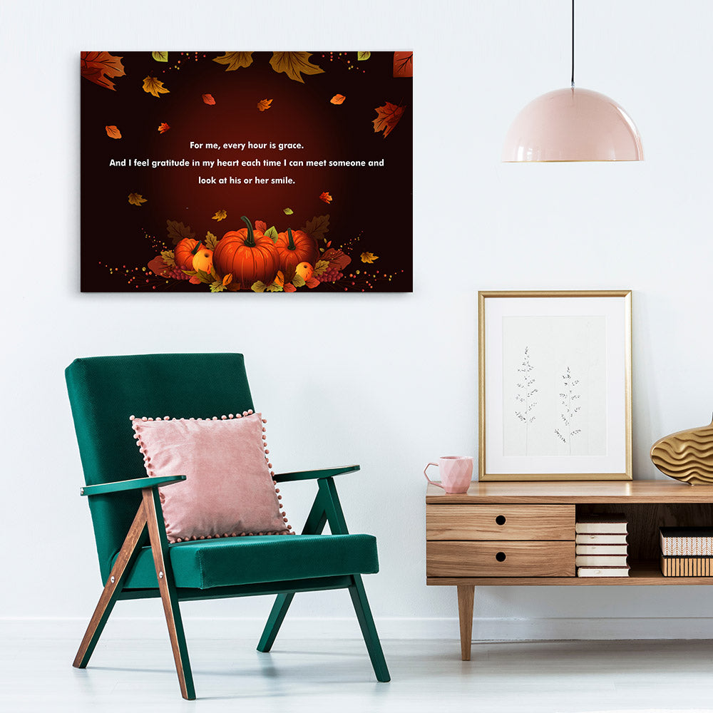 I Feel Gratitude Quote Canvas Wall Art