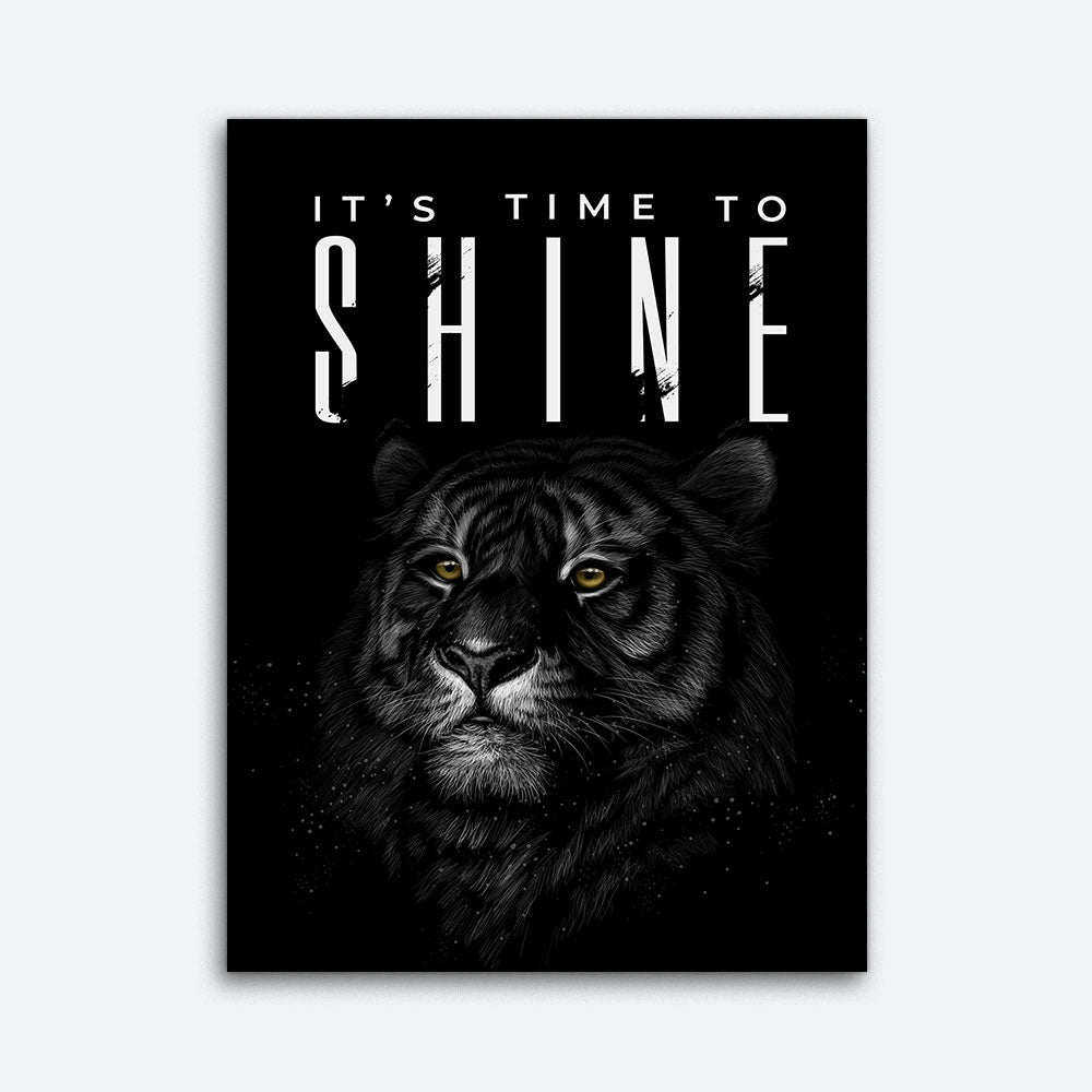 It's Time To Shine Motivational Inspirational Canvas Wall Art