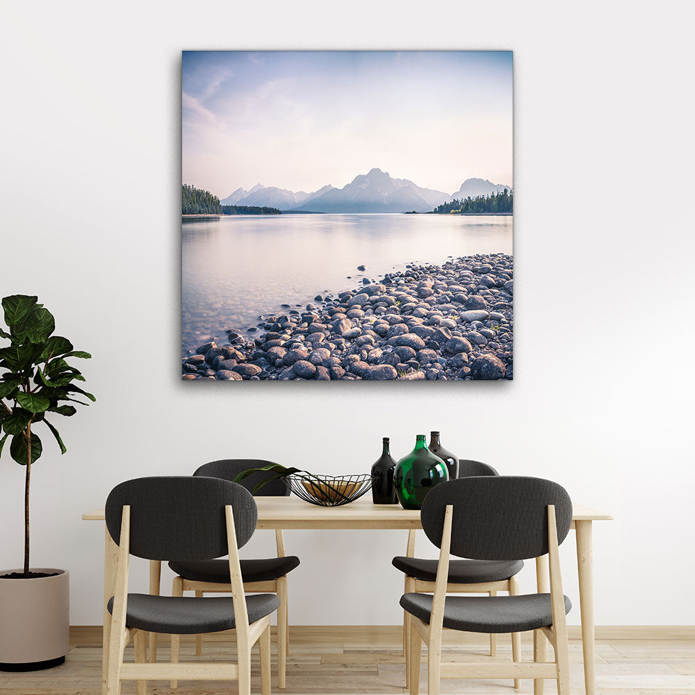 Jackson Lake of the Grand Tetons Canvas Wall Art