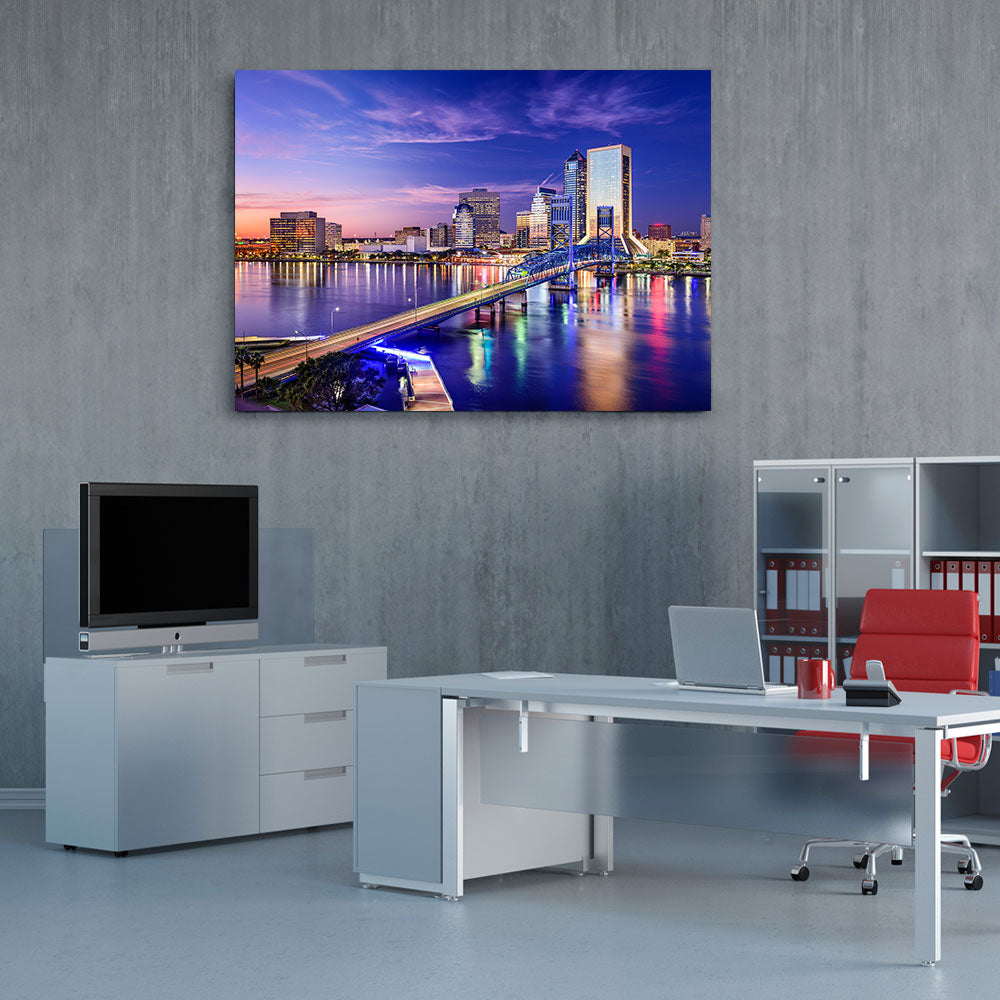 Jacksonville Florida Canvas Wall Art