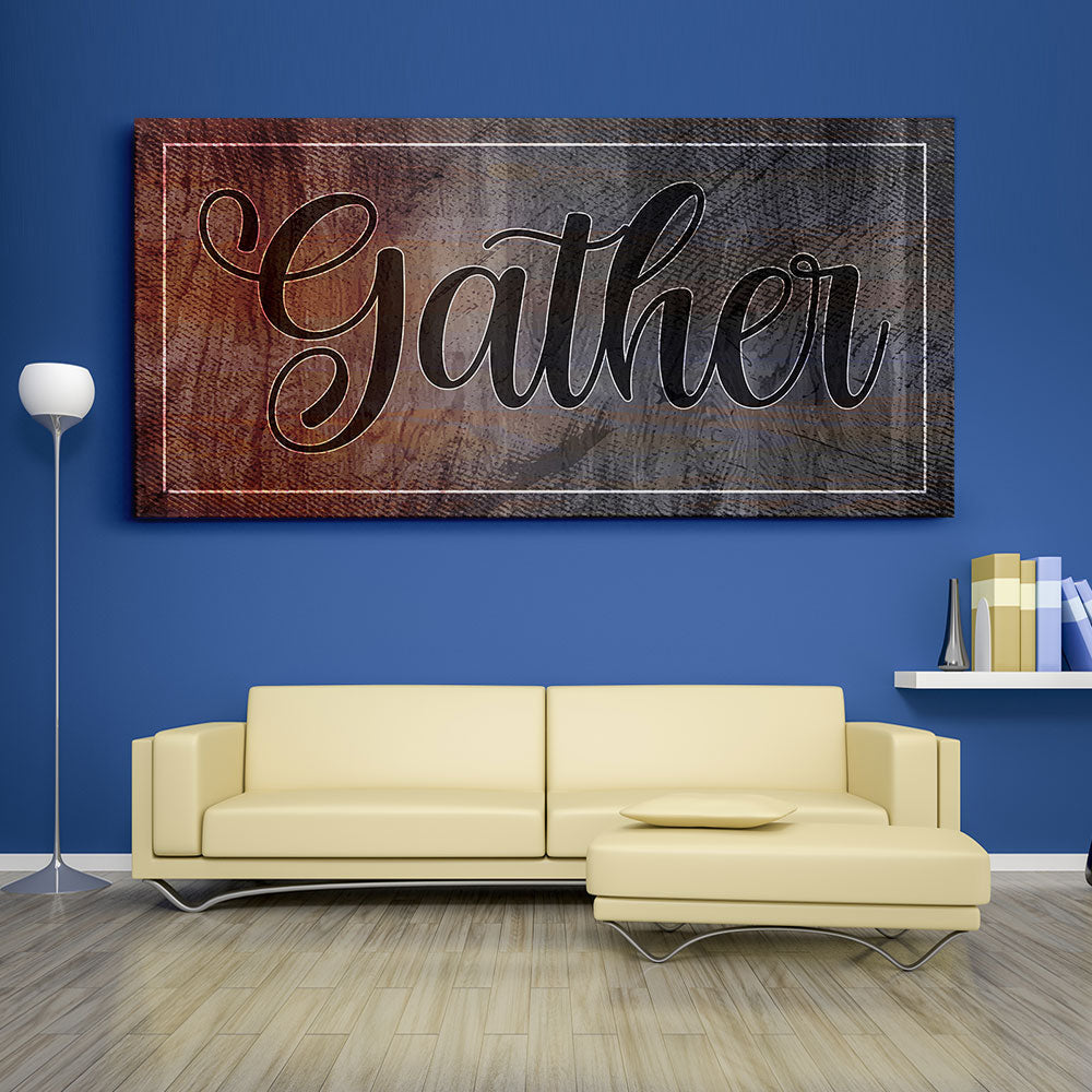 Decorate your walls with Gather Kitchen Wall Art, canvas prints from Makemyprints!