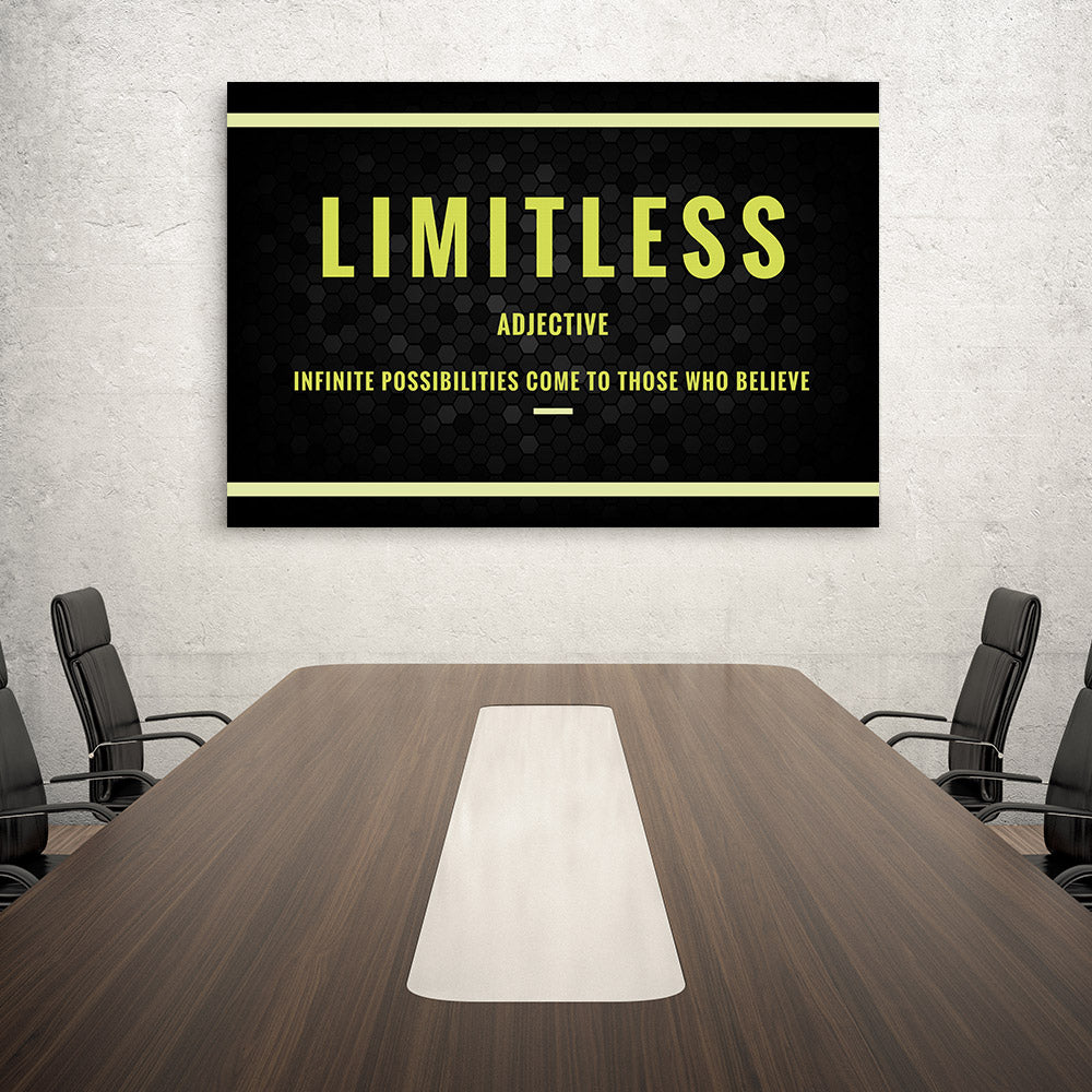 Limitless Motivational Canvas Wall Art for your Home or Office. Motivational, inspirational and modern canvas wall art for your Home or Office.