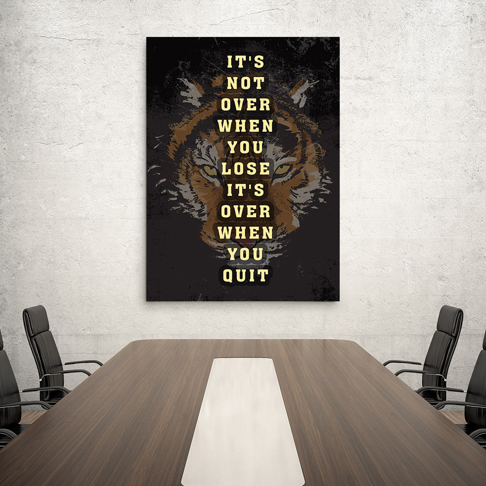 Lion Canvas Print Motivational Office Decor for your Home or Office. Motivational, inspirational and modern canvas wall art for your Home or Office.