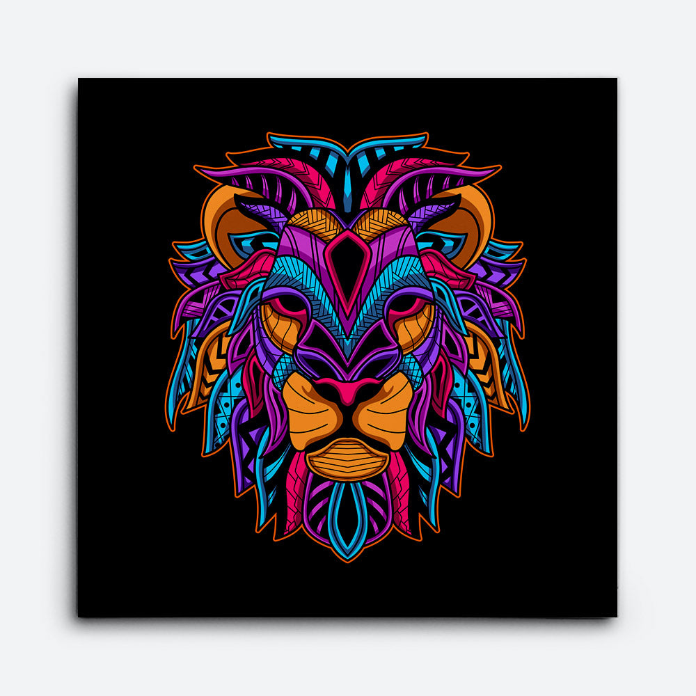 Lion Head Canvas Wall Art