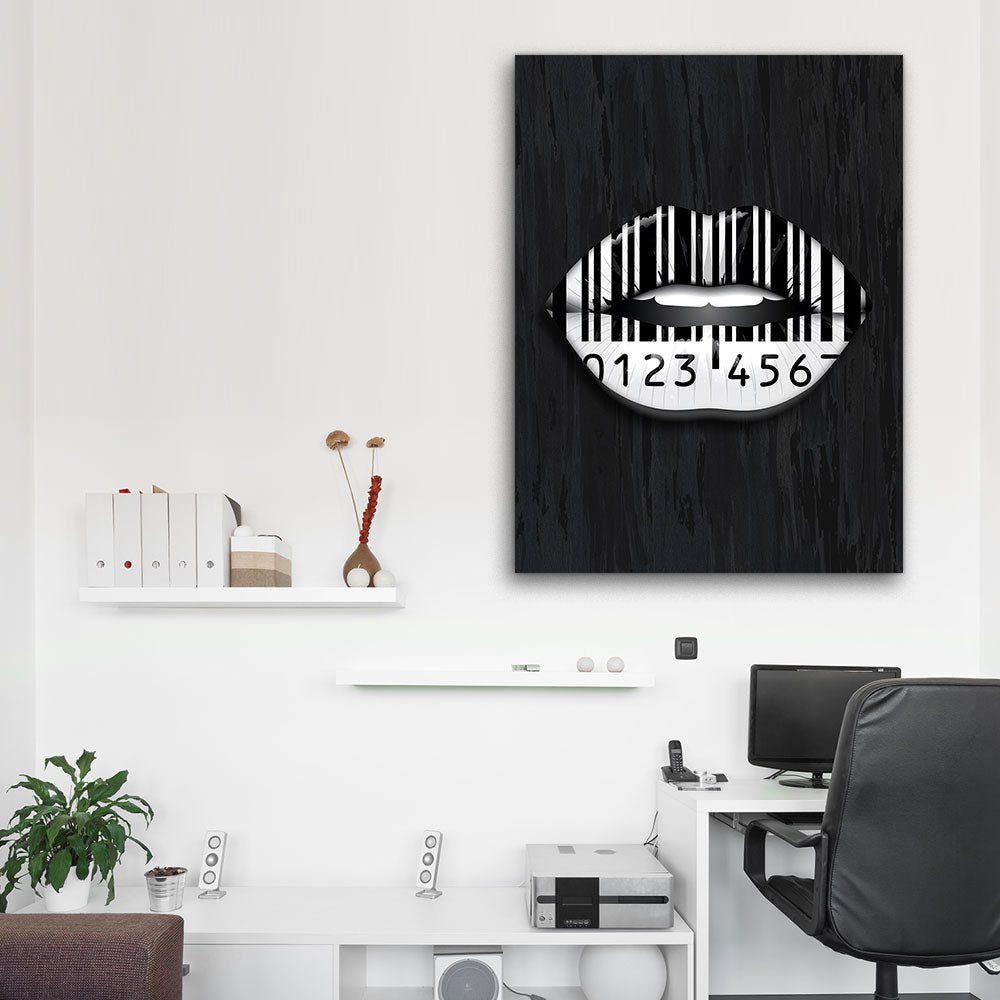 Decorate your walls with Lips Are Sealed Lips wall art, canvas prints from Makemyprints!