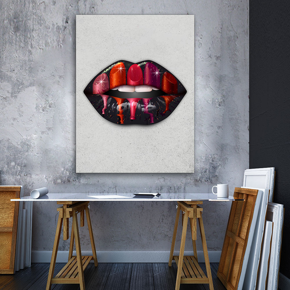 Decorate your walls with Lipstick Day Lips wall art, canvas prints from Makemyprints!