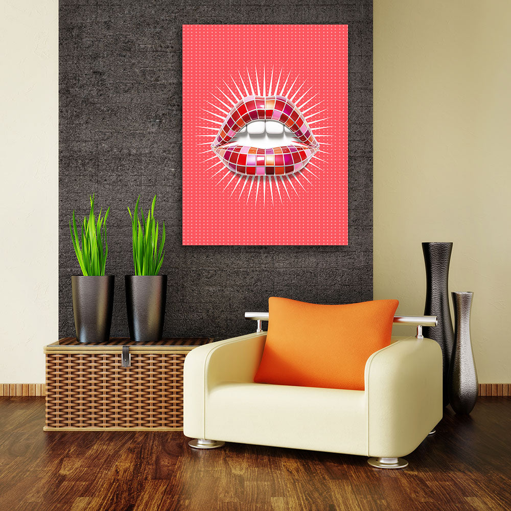 Decorate your walls with Lipstick Palette Lips wall art, canvas prints from Makemyprints!