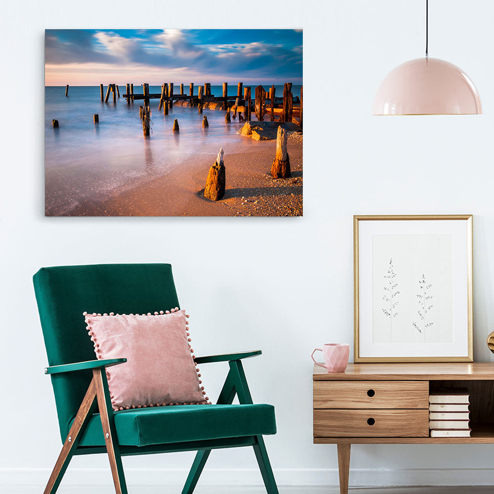 Long Exposure Sunset Nature Canvas Wall Art