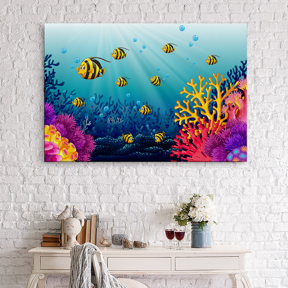 Lots Fish Sea Canvas Wall Art