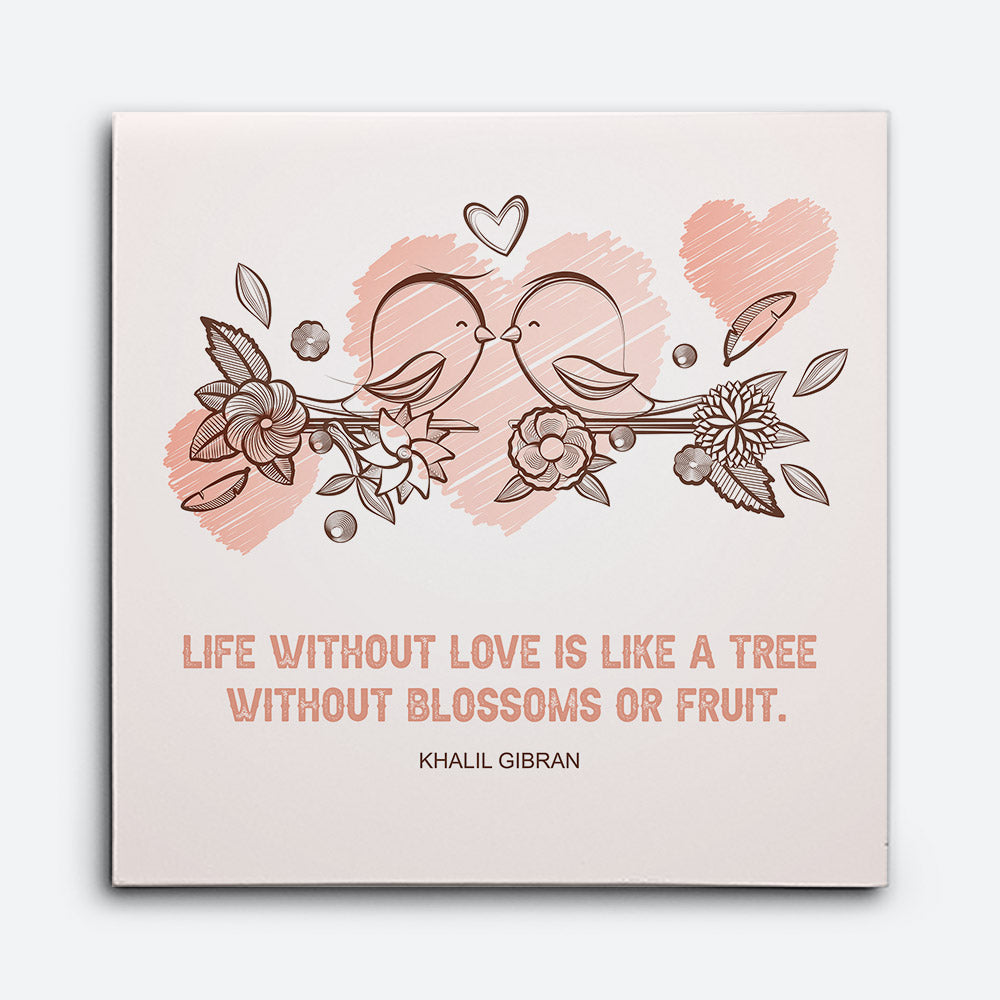Love Birds Canvas Wall Art for your Home or Office. Motivational, inspirational and modern canvas wall art for your Home or Office.