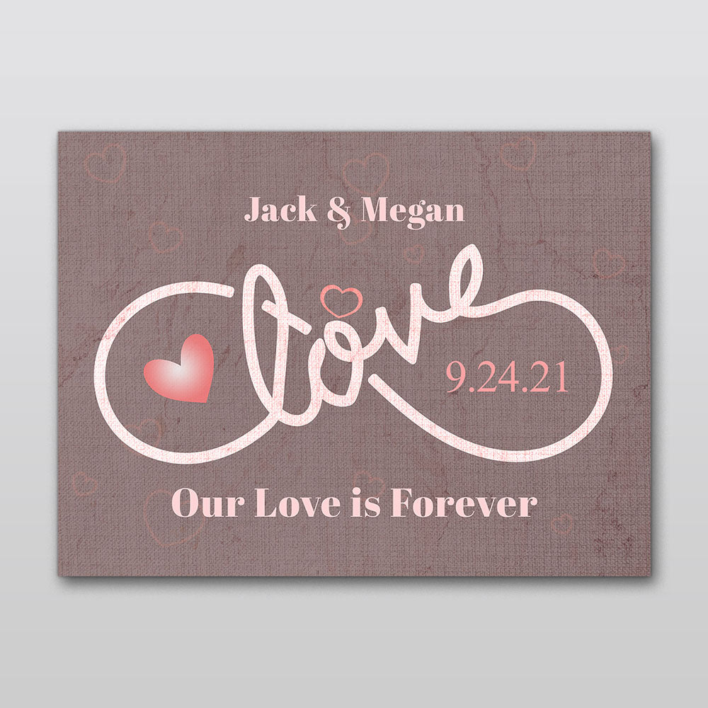 Love Personalized Canvas Wall Art