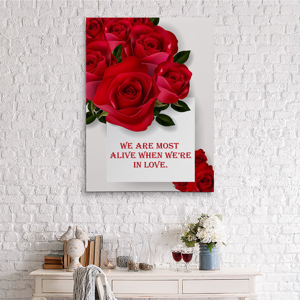 Love Quotes Canvas Wall Art