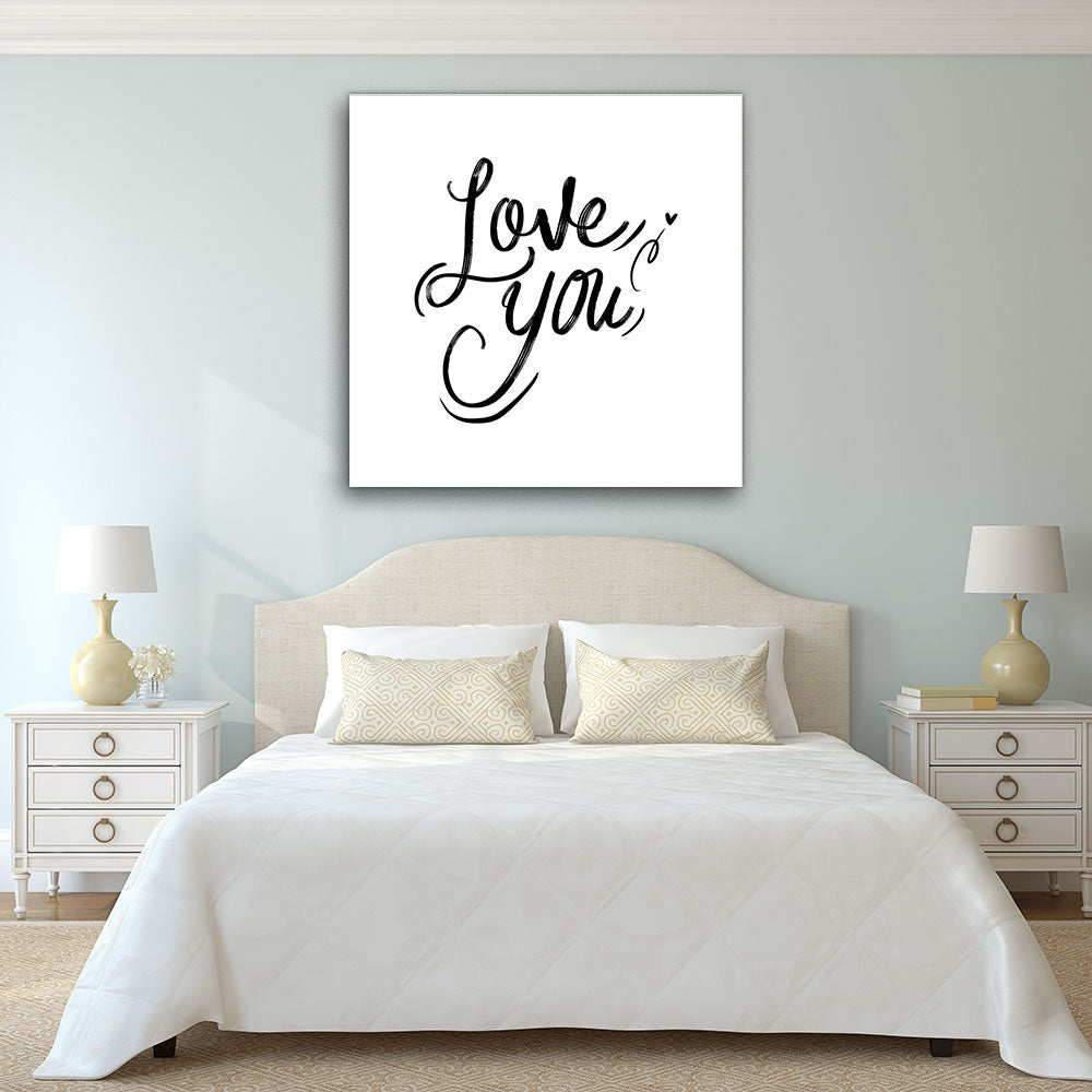 Love You Canvas Wall Art