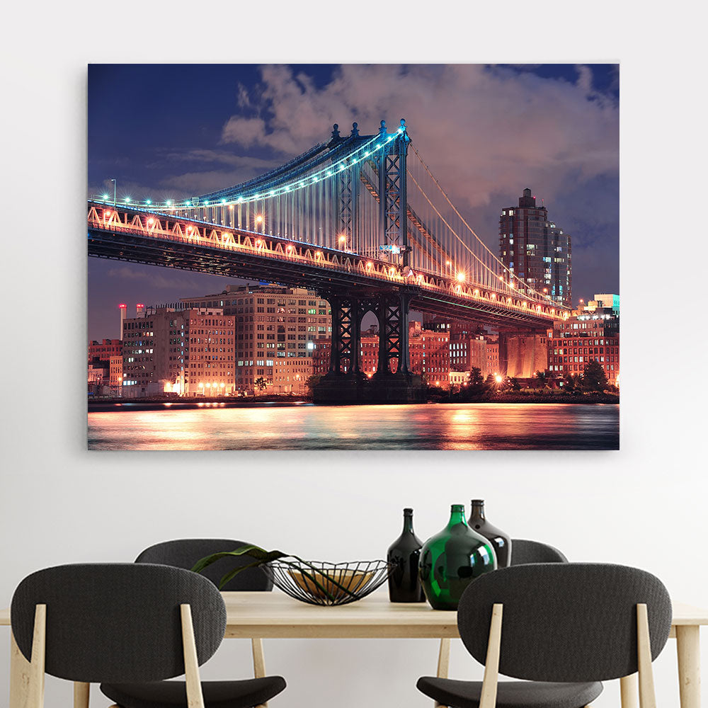 Manhattan Bridge Canvas Wall Art