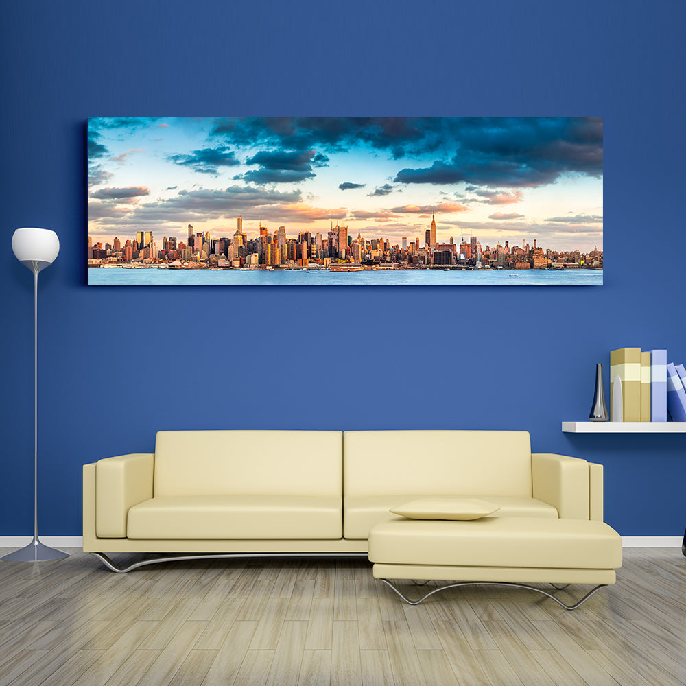 Manhattan Panorama Canvas Wall Art