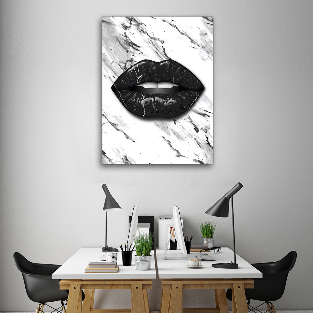 Decorate your walls with Marble Lips Lips wall art, canvas prints from Makemyprints!