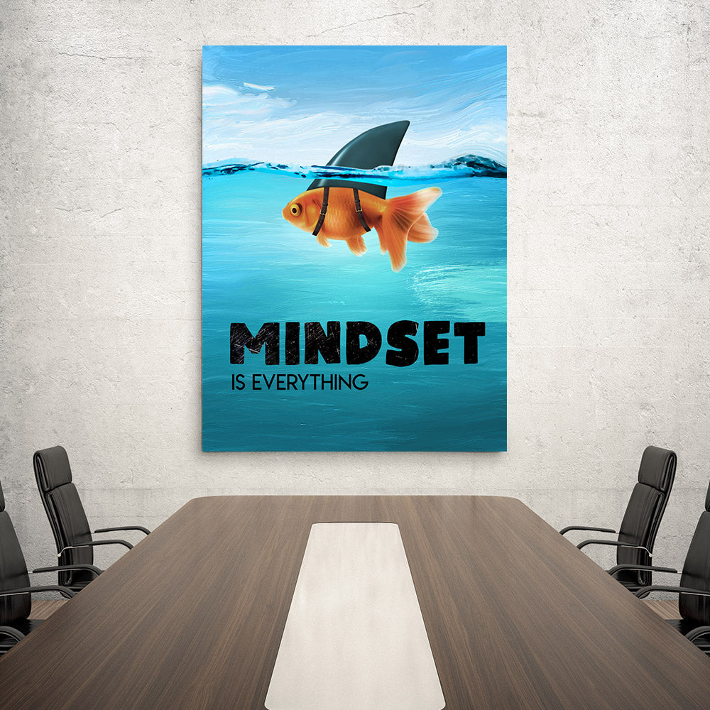 Mindset is Everything Canvas Wall Art for your Home or Office. Motivational, inspirational and modern canvas wall art for your Home or Office.
