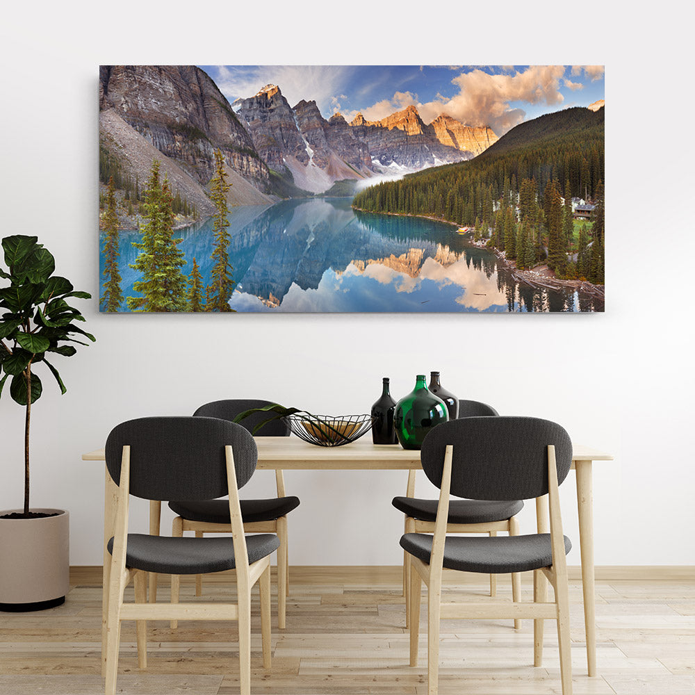Moraine Lake Banff National Park Canvas Wall Art
