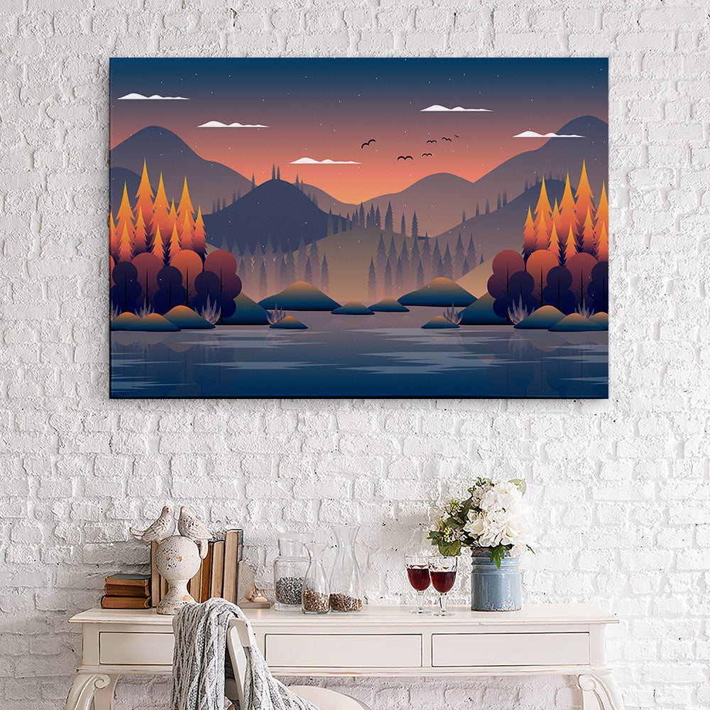 Mountain Sky Canvas Wall Art