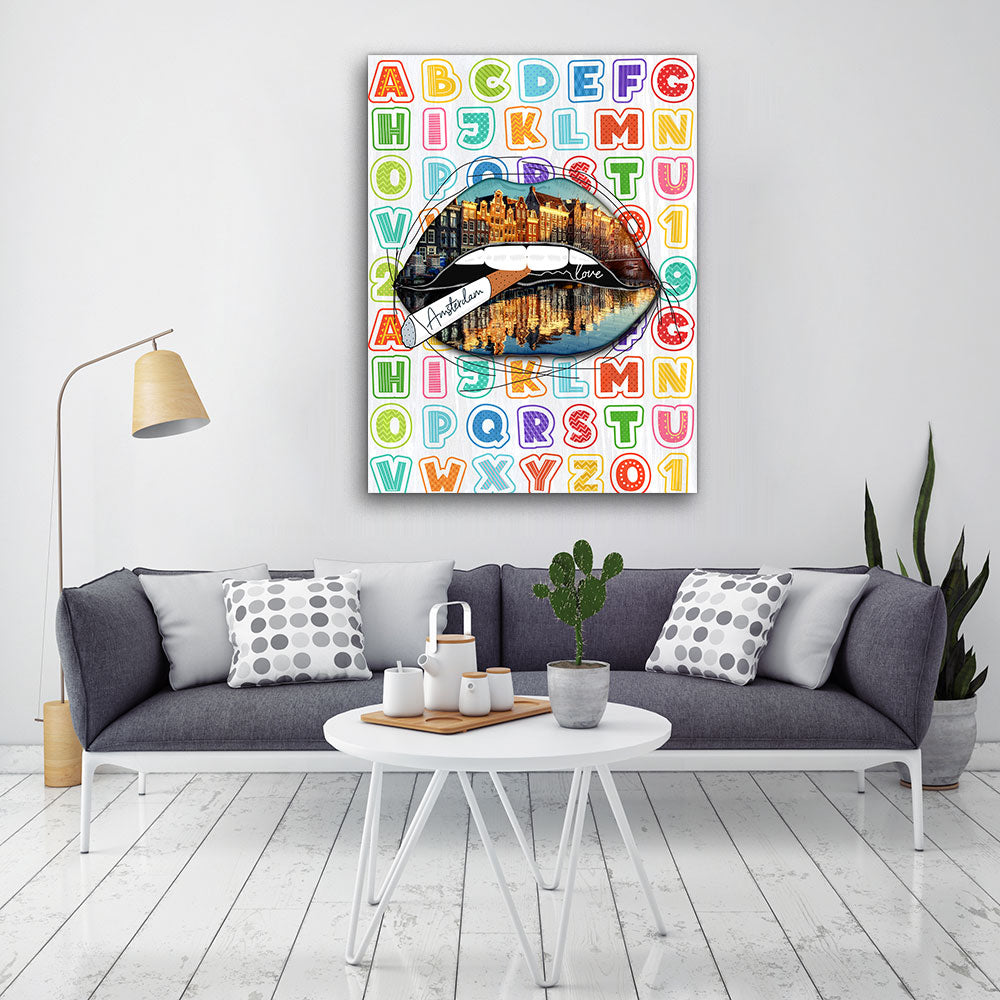 Decorate your walls with My Amsterdam Lips wall art, canvas prints from Makemyprints!