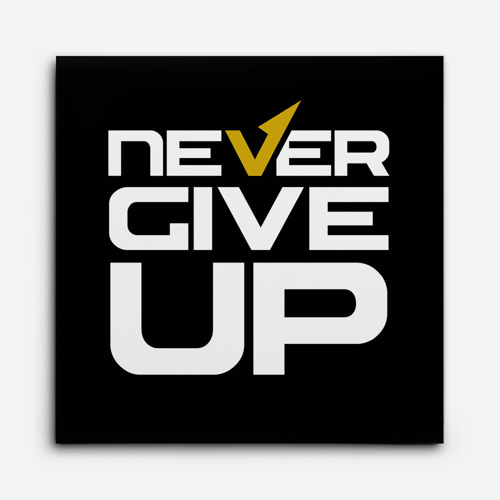 Never Give Up Canvas Wall Art for your Home or Office. Motivational, inspirational and modern canvas wall art for your Home or Office.