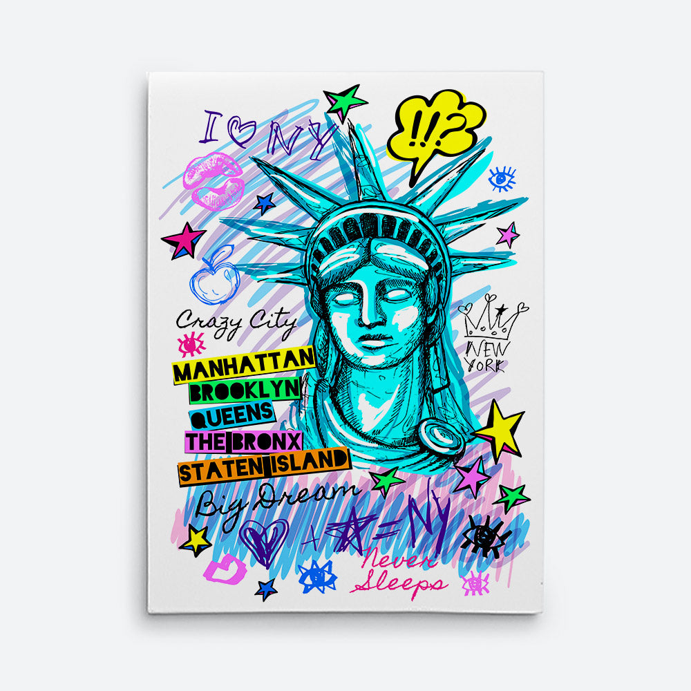 New York City Statue Liberty Canvas Wall Art