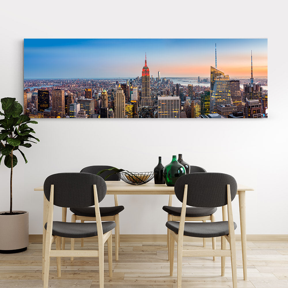 New York Panorama Canvas Wall Art