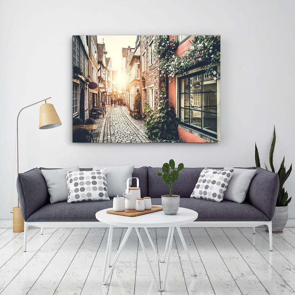Old Town Europe Canvas Wall Art