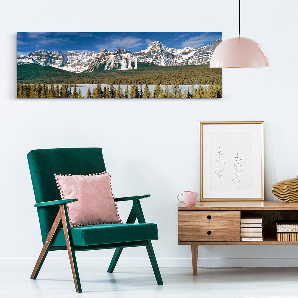 Panoramic Rockies Mountains Canvas Wall Art